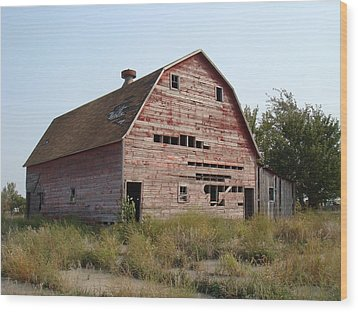 Wood Print featuring the photograph The Hole Barn by Bonfire Photography