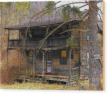 The Homestead Wood Print by Joyce Kimble Smith