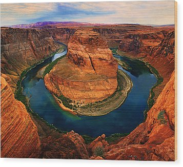 The Horseshoe Bend Wood Print by Daniel Chui