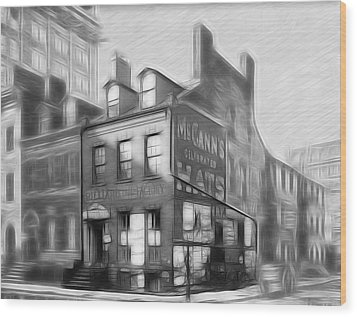 The House At The Corner Wood Print by Steve K