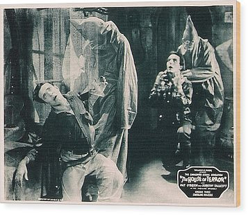 The House Of Terror, Front Left Jack La Wood Print by Everett
