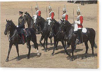 The Household Cavalry Performs Wood Print by Andrew Chittock