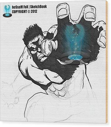 The Hulk 2 Wood Print by Hossam Fox