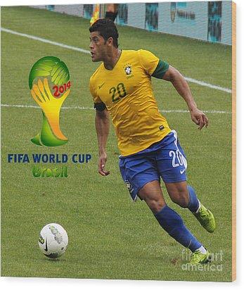 The Hulk Kicking Fifa 2014 Wood Print by Lee Dos Santos