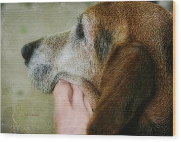 The Human Touch Wood Print by Joan Bertucci