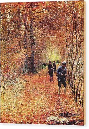 The Hunt Wood Print by Pg Reproductions