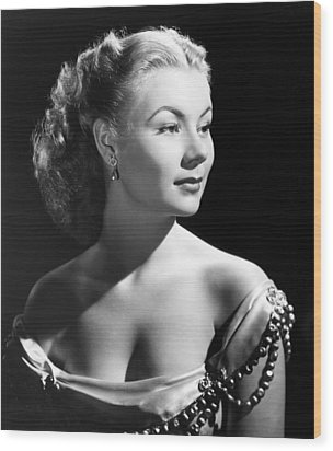 The I Dont Care Girl, Mitzi Gaynor Wood Print by Everett