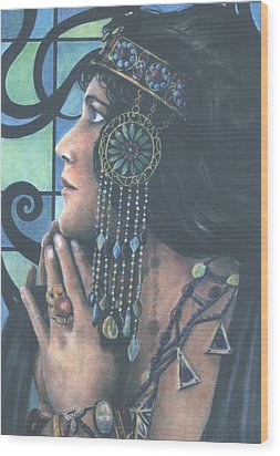The Ice Queen Wood Print by Michael Cohen