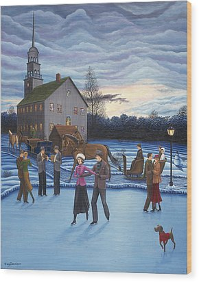 The Ice Skaters Wood Print