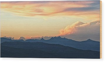 Wood Print featuring the photograph The Idaho Selkirks by Albert Seger