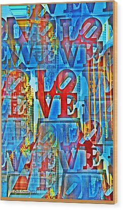 The Illusion Of Love Wood Print by Bill Cannon