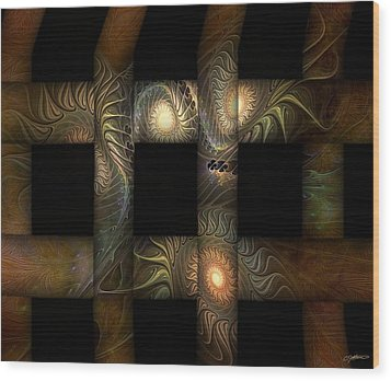 Wood Print featuring the digital art The Indomitability Of The Idea by Casey Kotas