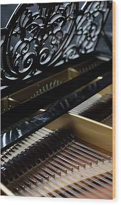 The Inside Of A Piano Wood Print by Studio Blond