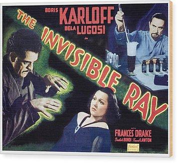 The Invisible Ray, Boris Karloff Wood Print by Everett