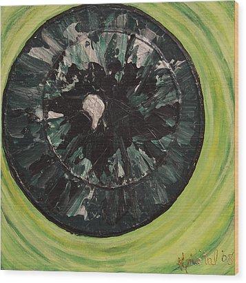 The Iris Wood Print by Kris Tal Knutson
