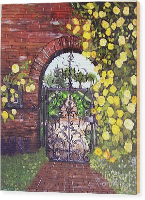 The Iron Gate Wood Print by Lucia Grilletto