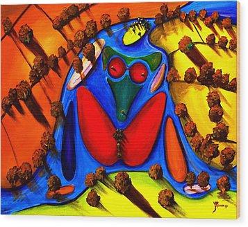 The Island Wood Print by Artist Singh