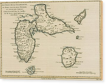 The Islands Of Guadeloupe Wood Print by Guillaume Raynal