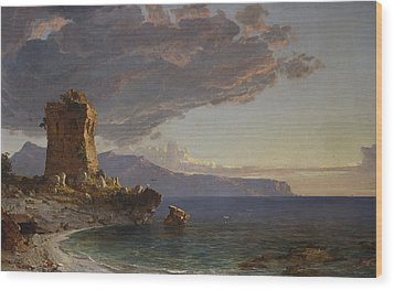 The Isle Of Capri Wood Print by Jasper Francis Cropsey