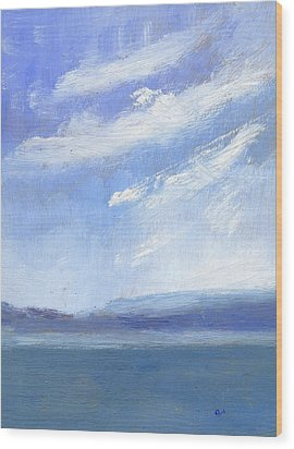The Isle Of Wight From Portsmouth Part Three Wood Print by Alan Daysh