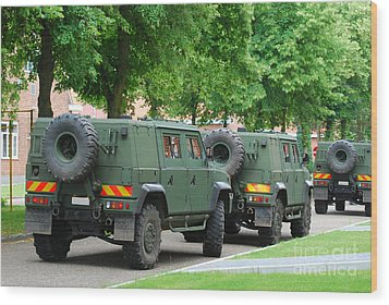 The Iveco Lmv Of The Belgian Army Wood Print by Luc De Jaeger