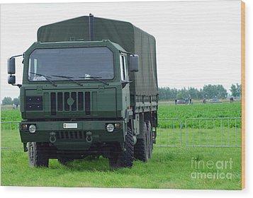 The Iveco M250 8 Ton Truck Wood Print by Luc De Jaeger