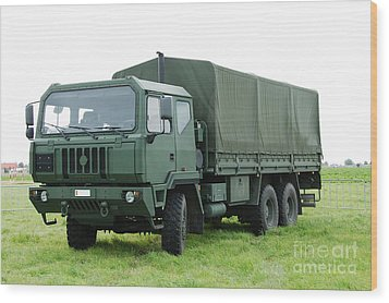 The Iveco M250 Used By The Belgian Army Wood Print by Luc De Jaeger