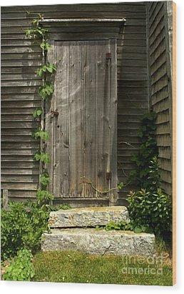 The Ivied Door Wood Print by Theresa Willingham