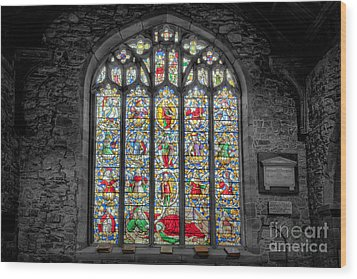 The Jesse Window  Wood Print by Adrian Evans