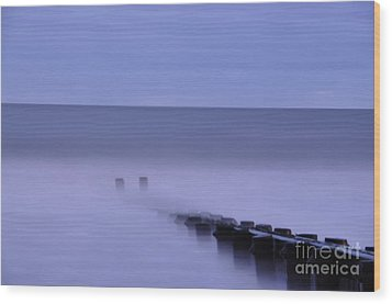The Jetty Wood Print by Tamera James
