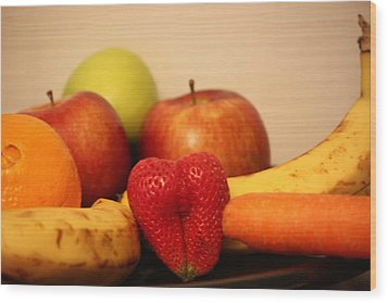 The Joy Of Fruit At Bedtime Wood Print by Andrea Nicosia