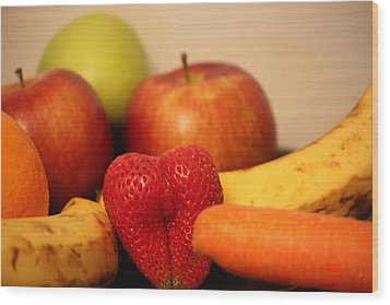 The Joy Of Fruit At Mid-day Wood Print by Andrea Nicosia