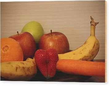 The Joy Of Fruit At Supper Wood Print by Andrea Nicosia