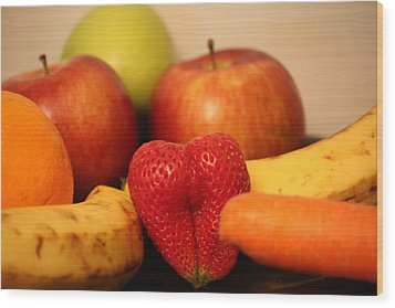 The Joy Of Fruit In The Morning Wood Print by Andrea Nicosia