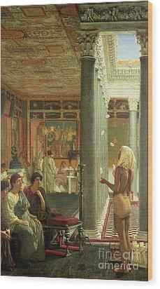 The Juggler Wood Print by Sir Lawrence Alma-Tadema