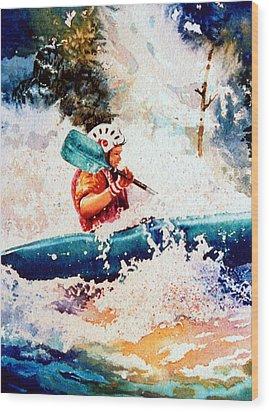 The Kayak Racer 18 Wood Print by Hanne Lore Koehler