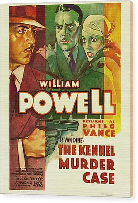 The Kennel Murder Case, William Powell Wood Print by Everett