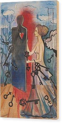 The Key Keeper Wood Print by Valentina Plishchina