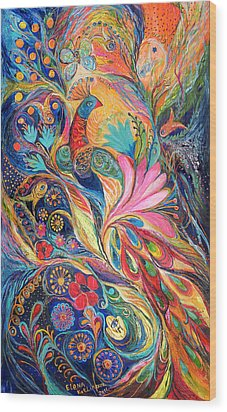 The King Bird. The Original Can Be Purchased Directly From Www.elenakotliarker.com Wood Print by Elena Kotliarker
