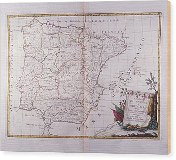 The Kingdom Of Spain And Portugal Divided Wood Print by Fototeca Storica Nazionale