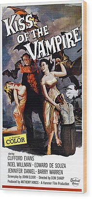 The Kiss Of The Vampire, Aka Kiss Of Wood Print by Everett