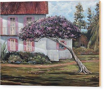 The Kite Tree Wood Print
