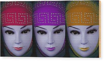 The Ladies Of Primoz Wood Print by Jez C Self