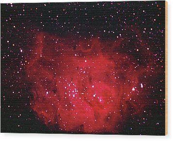 The Lagoon Nebula In Sagittarius Wood Print by A. V. Ley