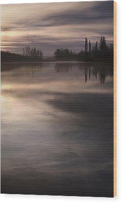 The Lake Wood Print by Akos Kozari