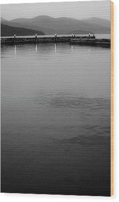 The Lake At Dusk Wood Print by David Patterson