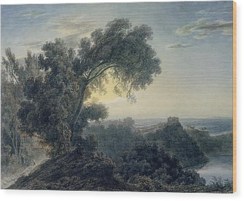 The Lake Of Albano And Castle Gandolfo  Wood Print by John Robert Cozens