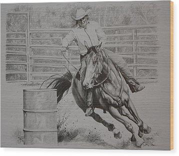 The Last Barrel Wood Print by Tammy  Taylor