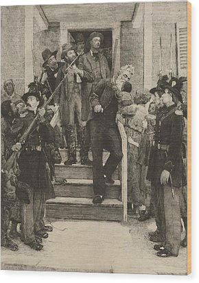 The Last Moments Of John Brown, Etching Wood Print by Everett