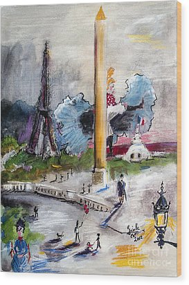 The Last Time I Saw Paris Wood Print by Ginette Callaway